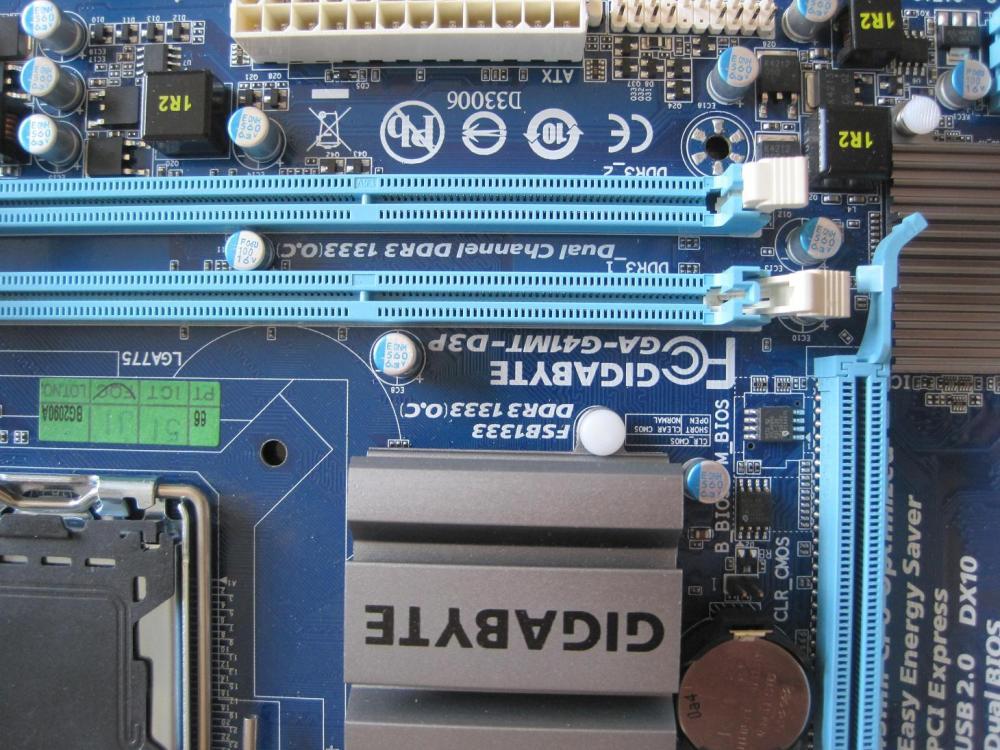 Gigabyte ga-g41mt-d3v rev13 (rtl) lga775 g41 pci-e+svga+dvi+gblan sata microatx 2ddr-iii